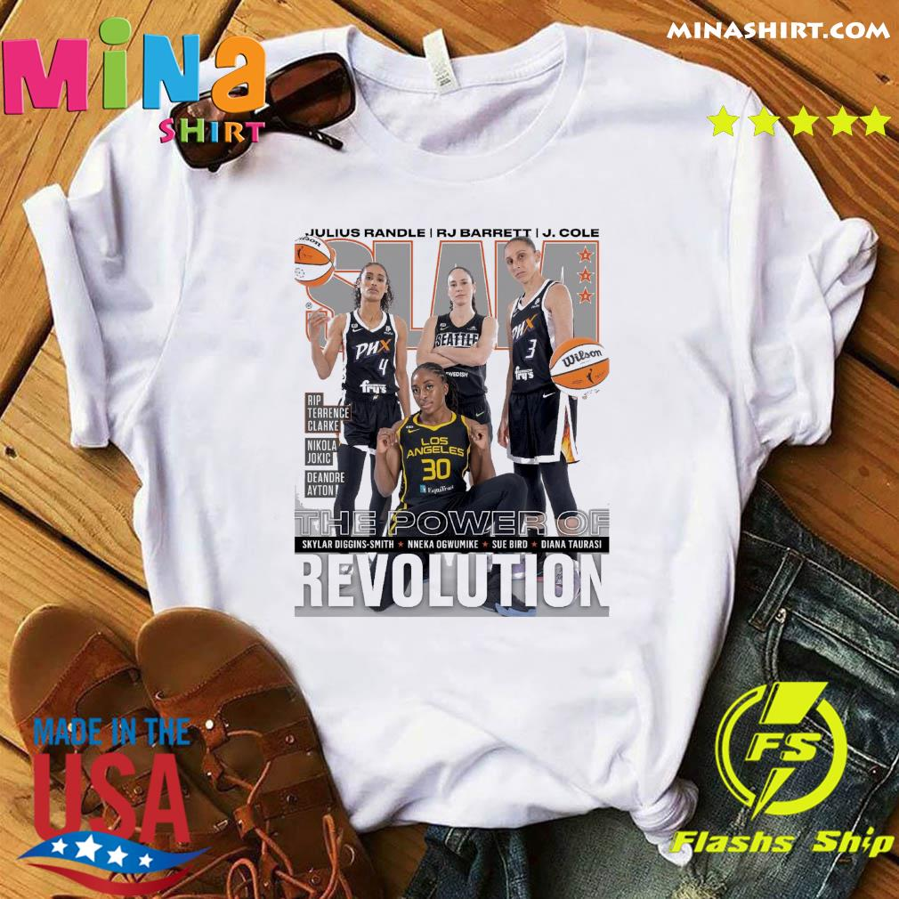 SLAM Skylar, Nneka, Sue Diana June, July 2021 Revolution Shirt