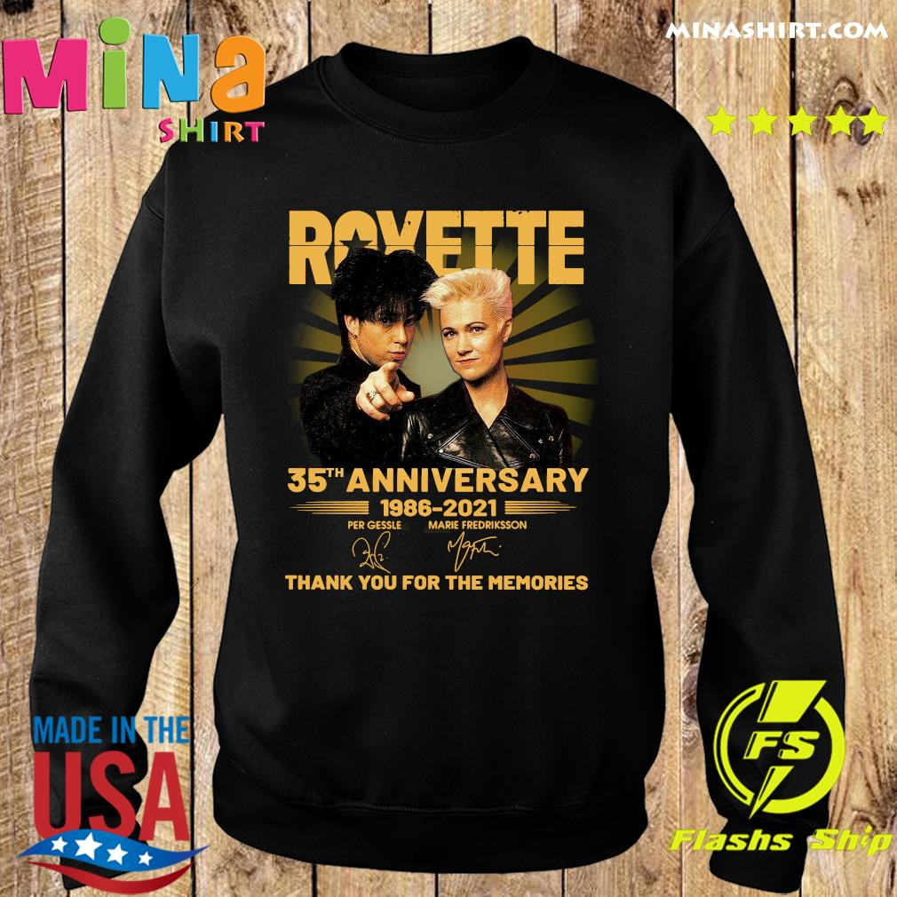 Roxette 35th Anniversary 1986 2021 Thank You For The Memories Signatures Shirt Sweater