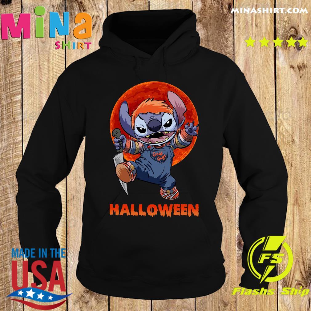 Stitch Good Guys Halloween Moon Shirt Hoodie