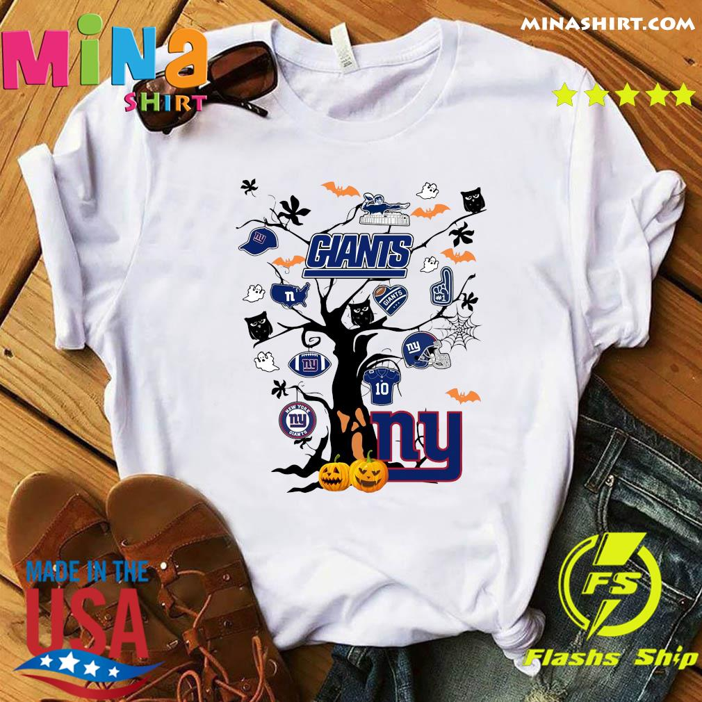 New York Giants Tree Pumpkin Halloween Shirt