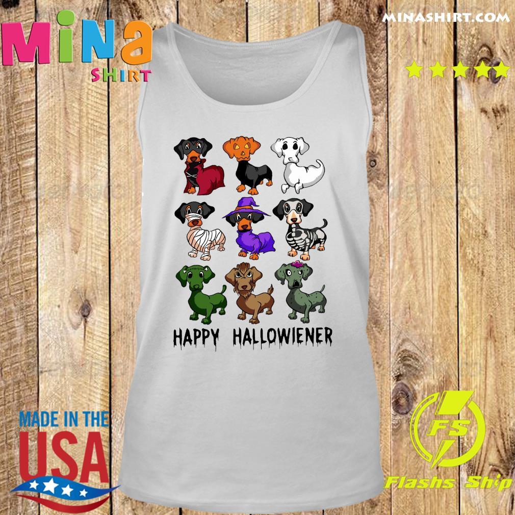 Official Dachshund Happy Halloween Shirt Tank top