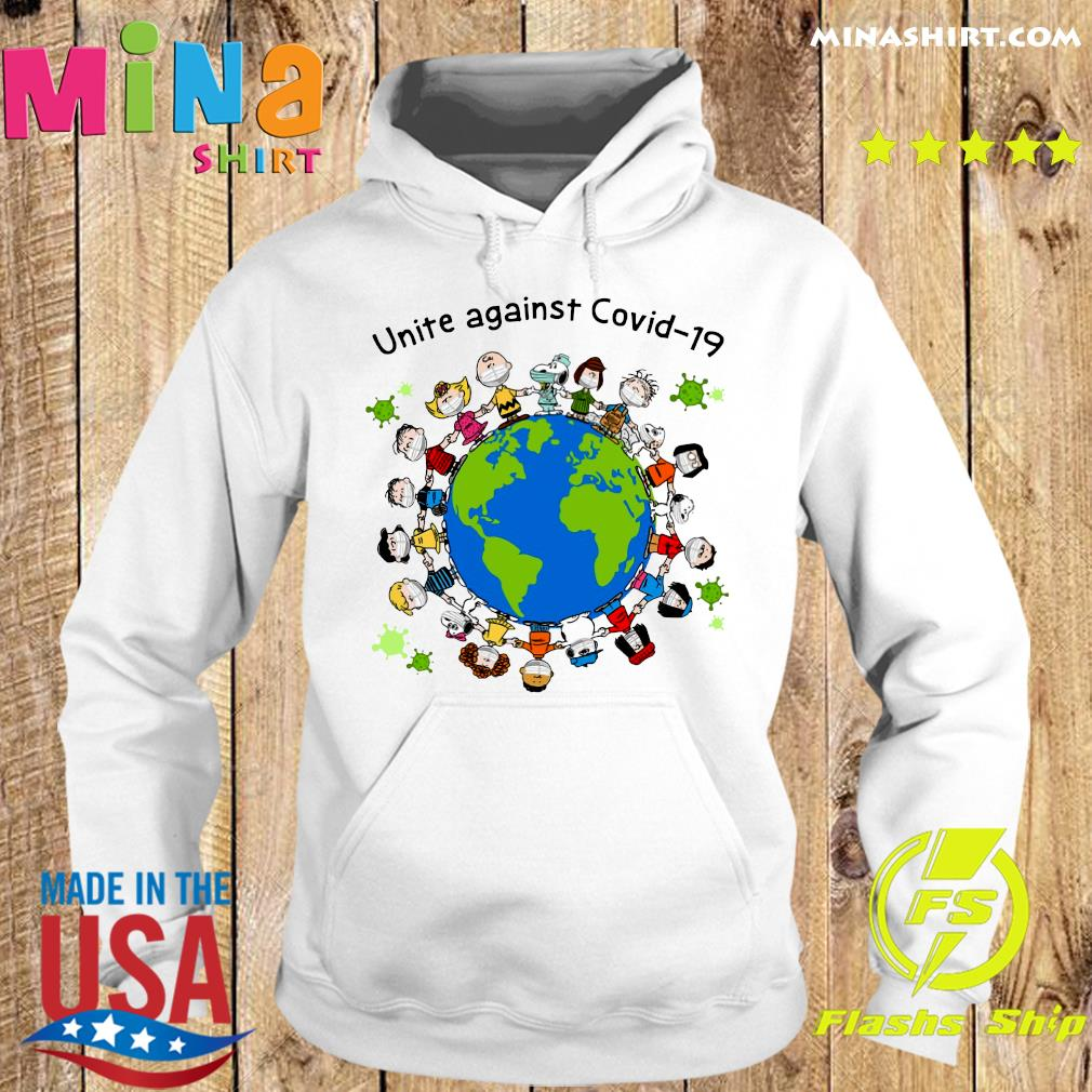 Official Snoopy Peanuts And Charlie Brown Mask Unite Against Covid 19 On The Earth s Hoodie