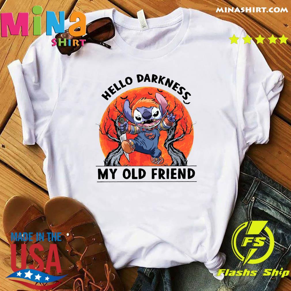 Stitch Hello Darkness My Old Friends Moon Shirt