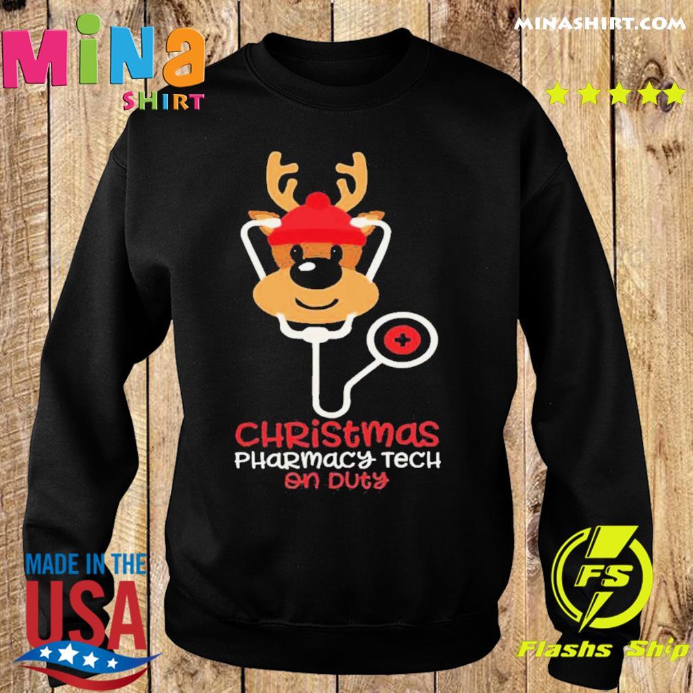 Christmas Pharmacy Tech On Duty Reindeer Nurse shirt