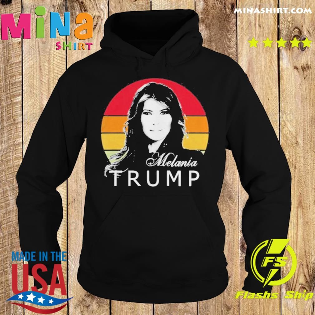 Melania trump first lady of the united states vintage retro s Hoodie