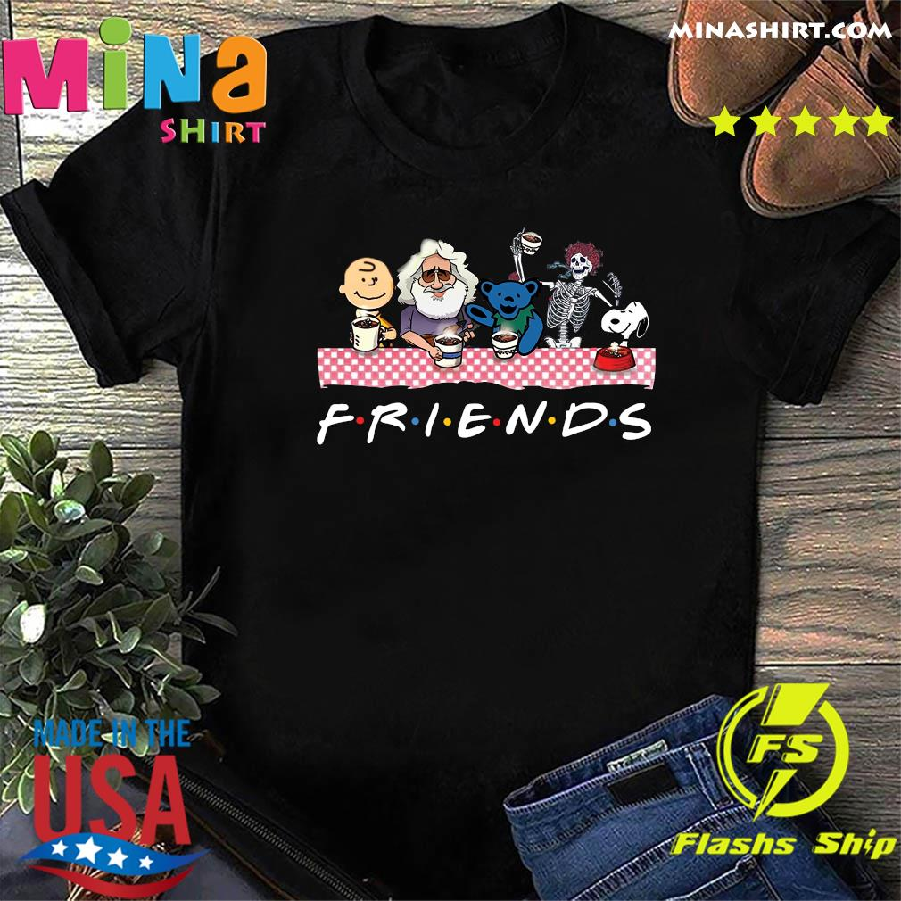 Charlie Brown And Snoopy And Skeleton And Grateful Dead Bears Friends Christmas Sweatshirt