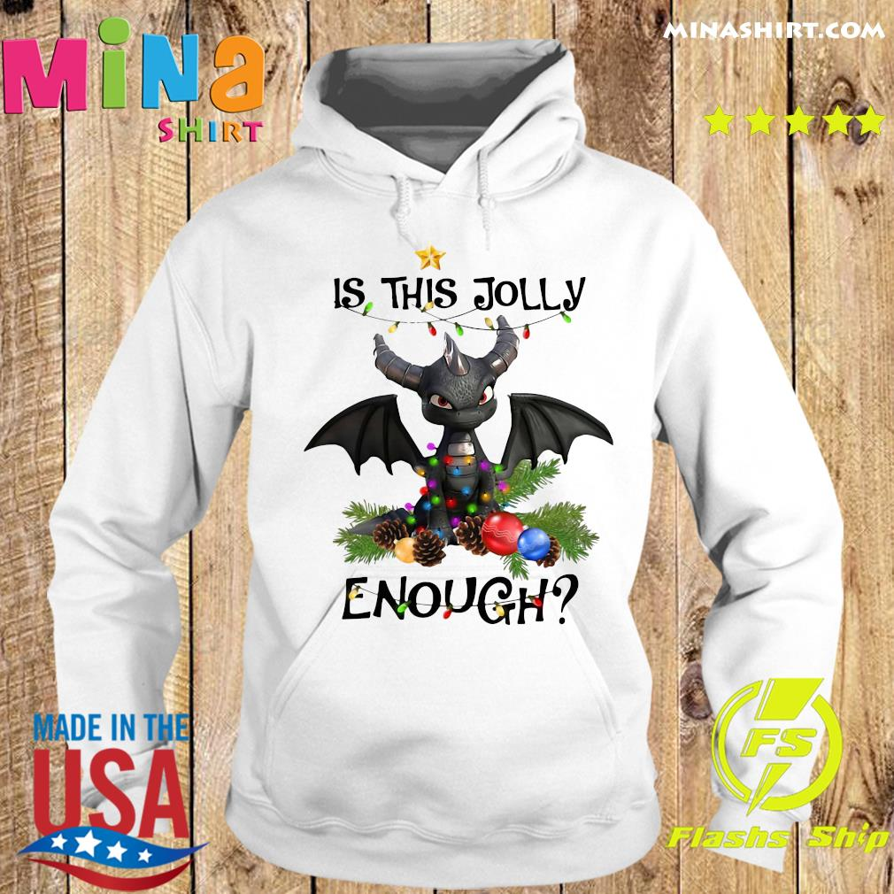 Dragon Is This Jolly Enough Christmas Light Sweats Hoodie