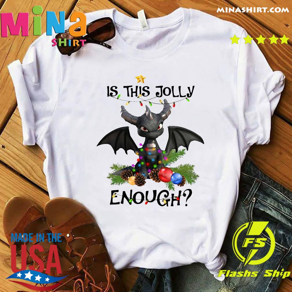 Dragon Is This Jolly Enough Christmas Light Sweatshirt