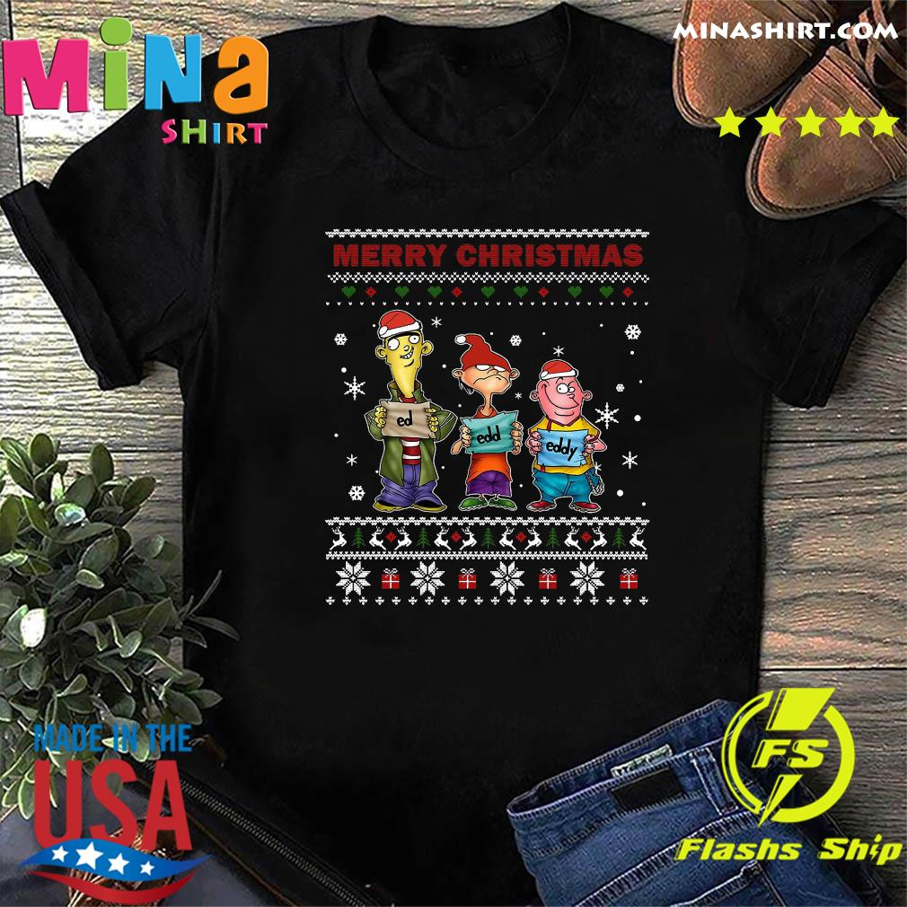 Ed Edd Eddy Merry Christmas Ugly Sweatshirt