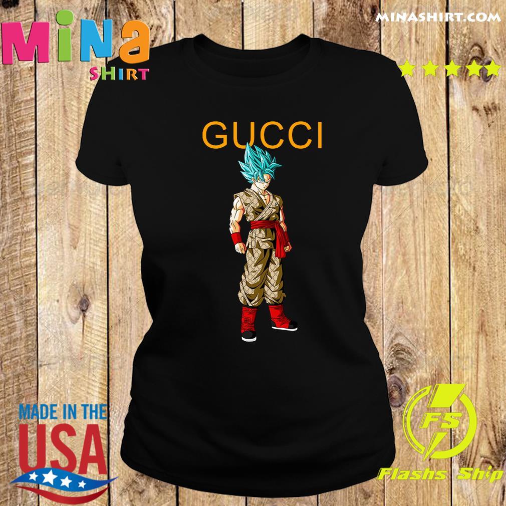 Goku Dragon Ball Super Gucci Shirt Ladies tee