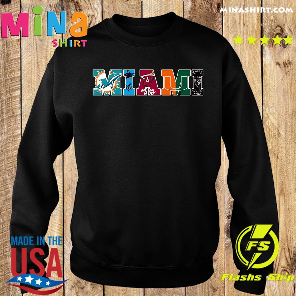 Miami Hurricanes Miami Dolphins Miami Heat Inter Shirt Sweater