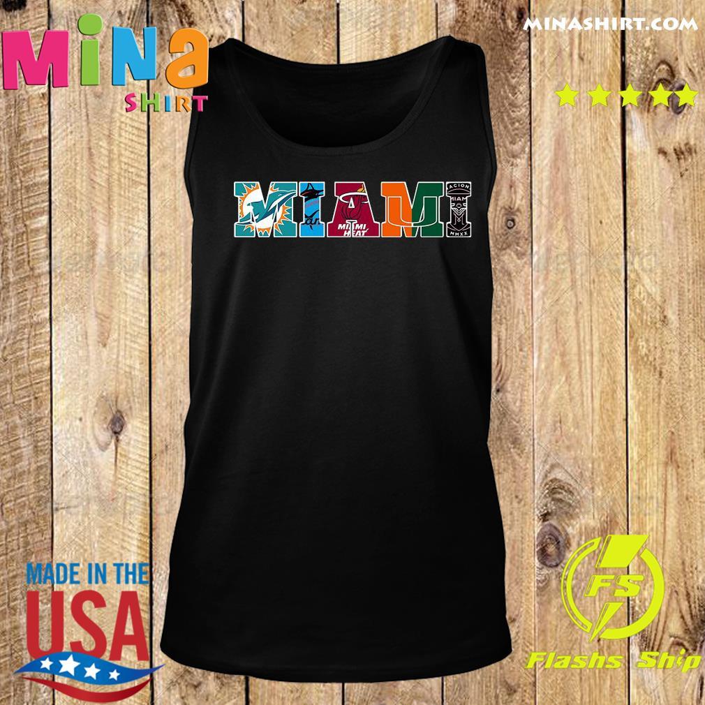 Miami Hurricanes Miami Dolphins Miami Heat Inter Shirt Tank top