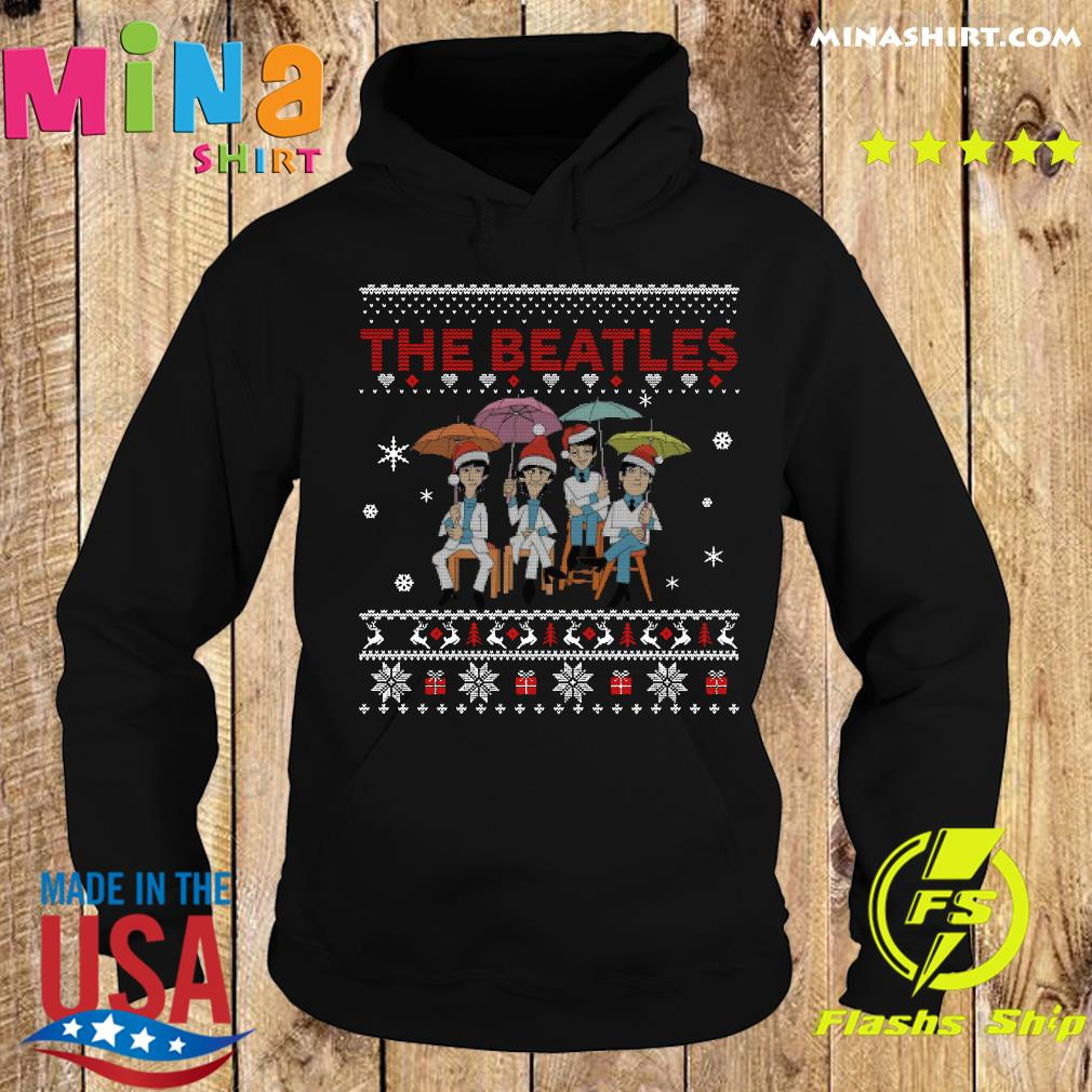 Official The Beatles Santa Ugly Merry Christmas Sweats Hoodie
