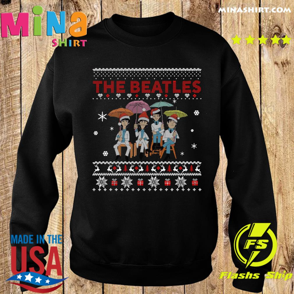 Official The Beatles Santa Ugly Merry Christmas Sweats Sweater