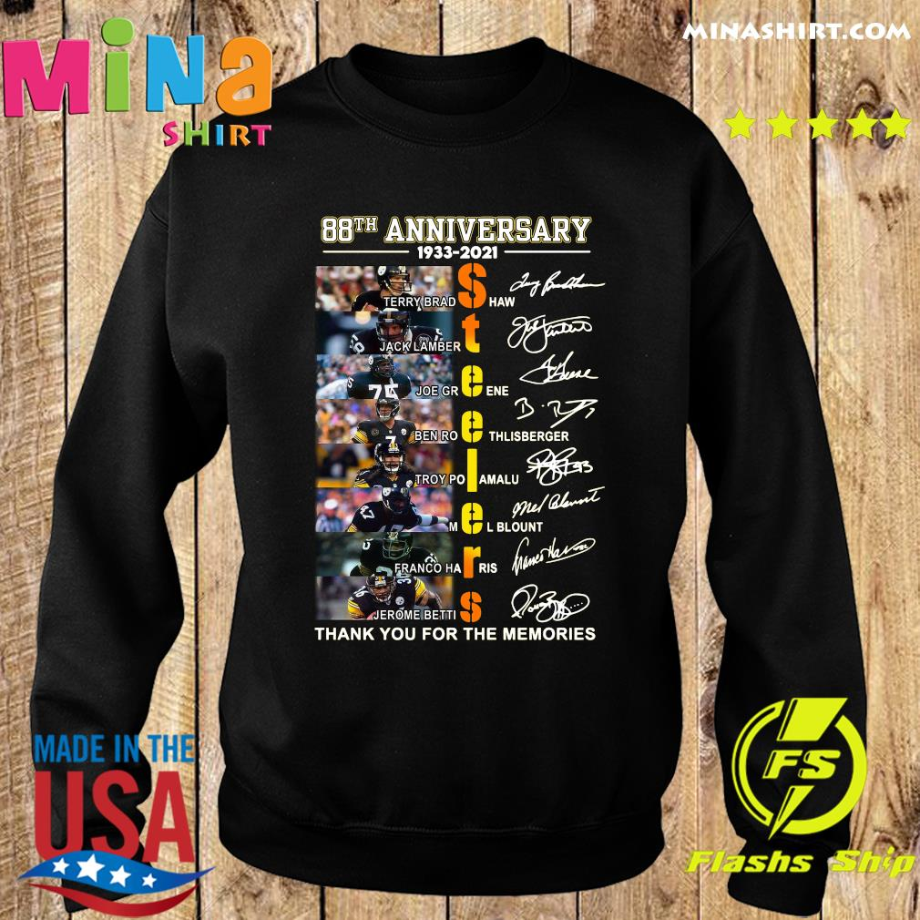 Pittsburgh Steelers 88th Anniversary 1933 2021 Thank You For The Memories Signatures T-Shirt Sweater