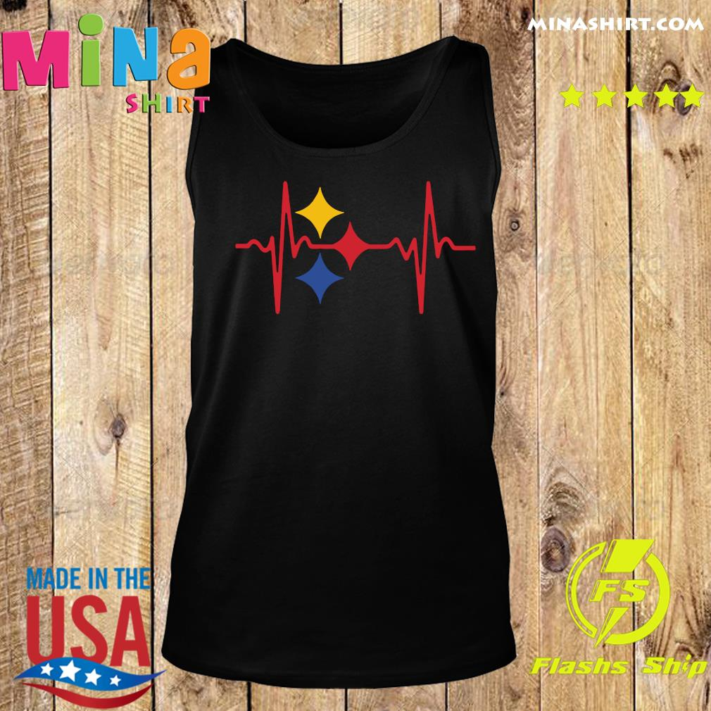 Pittsburgh Steelers Heartbeat Shirt Tank top