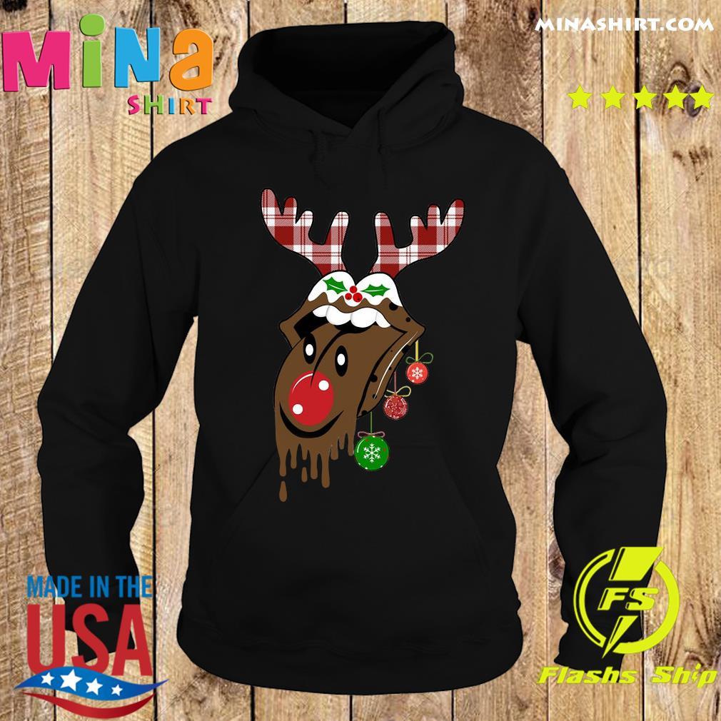 Reindeer Rolling Stones Merry Christmas Sweats Hoodie