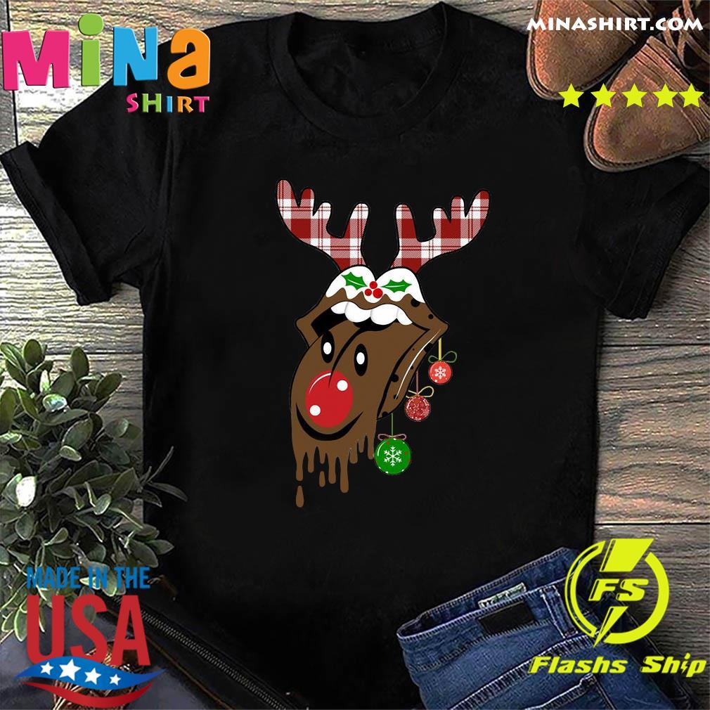 Reindeer Rolling Stones Merry Christmas Sweatshirt