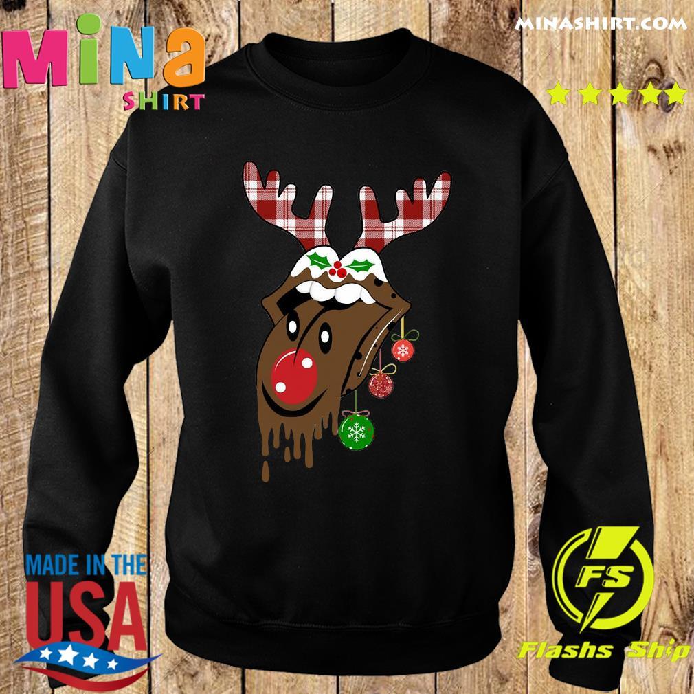 Reindeer Rolling Stones Merry Christmas Sweats Sweater