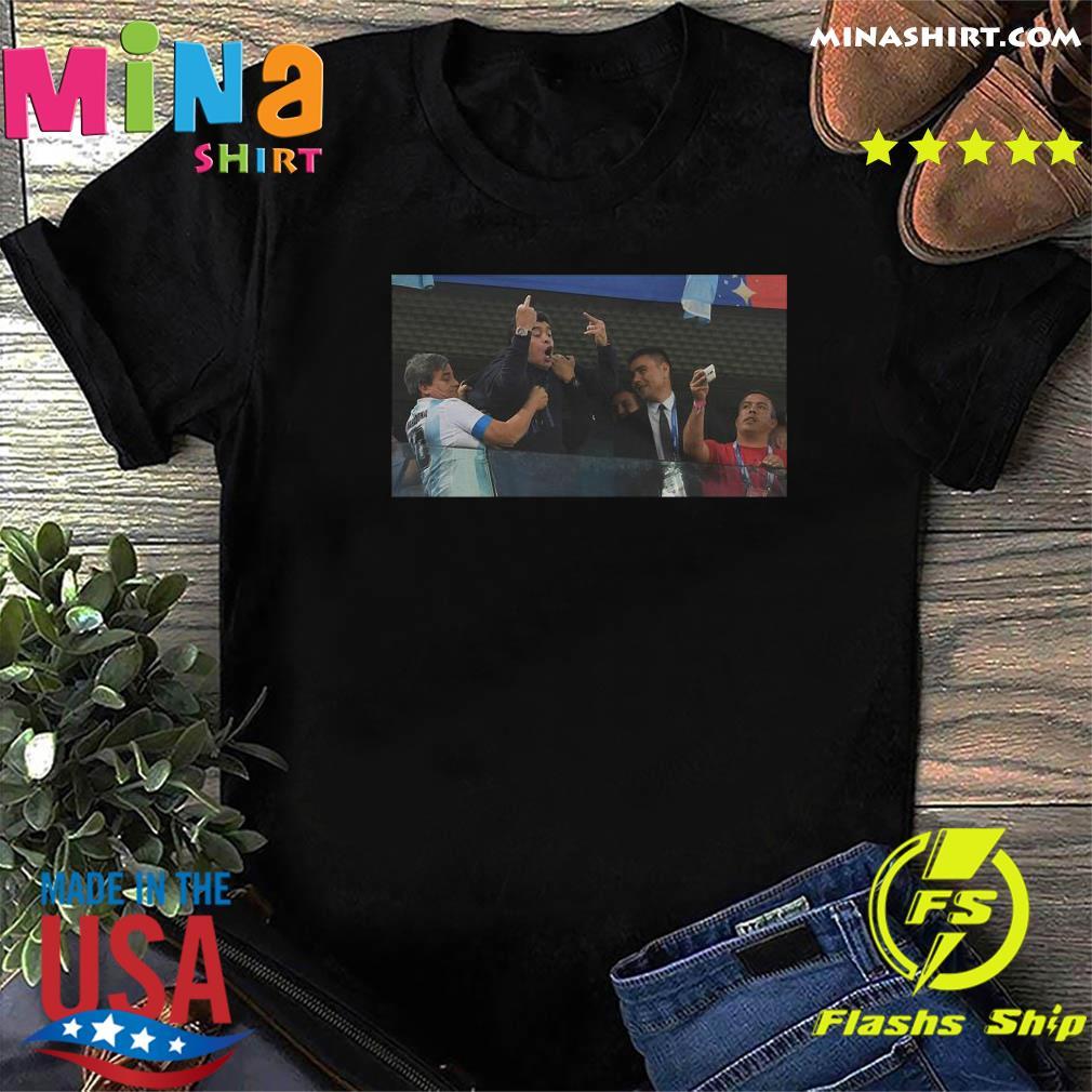 RIP Diego Armando Maradona Flipping the bird Middle finger Shirt