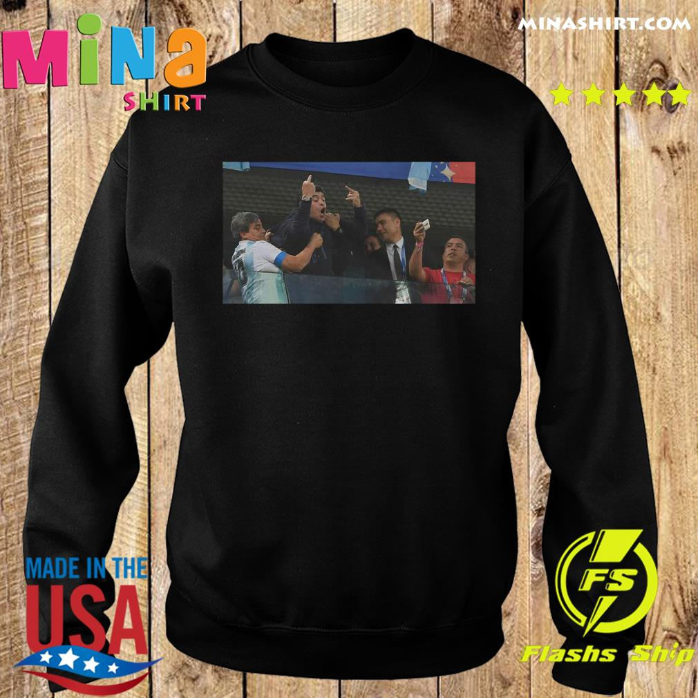 RIP Diego Armando Maradona Flipping the bird Middle finger Shirt Sweater