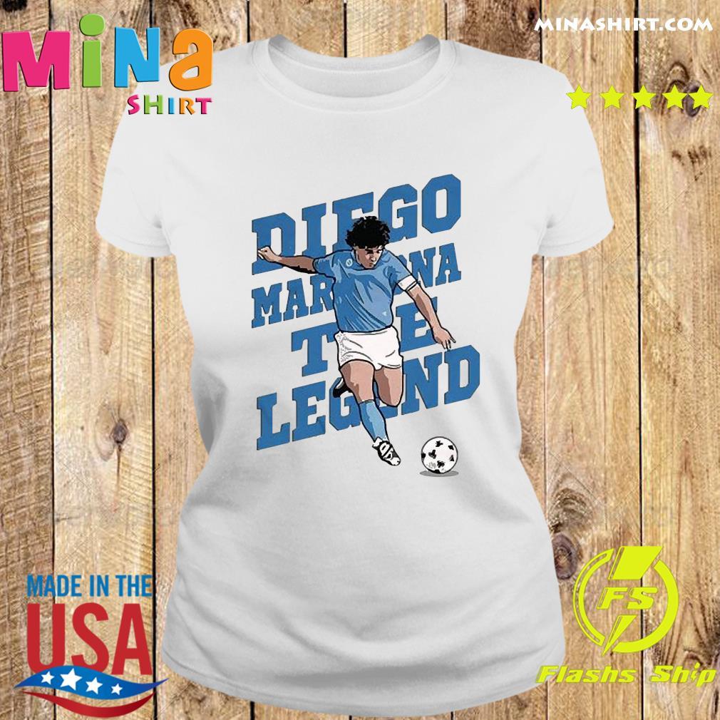 RIP Diego Maradona We Why Miss Your Diego Maradona Shirt Ladies tee