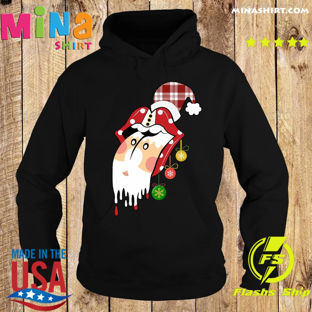Santa Clause Rolling Stones Merry Christmas Sweats Hoodie