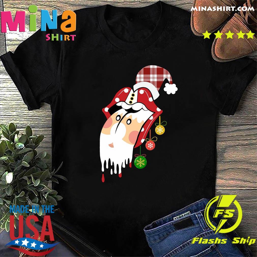 Santa Clause Rolling Stones Merry Christmas Sweatshirt