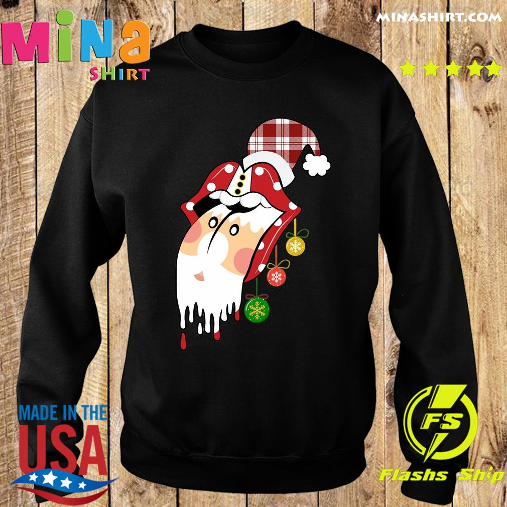 Santa Clause Rolling Stones Merry Christmas Sweats Sweater