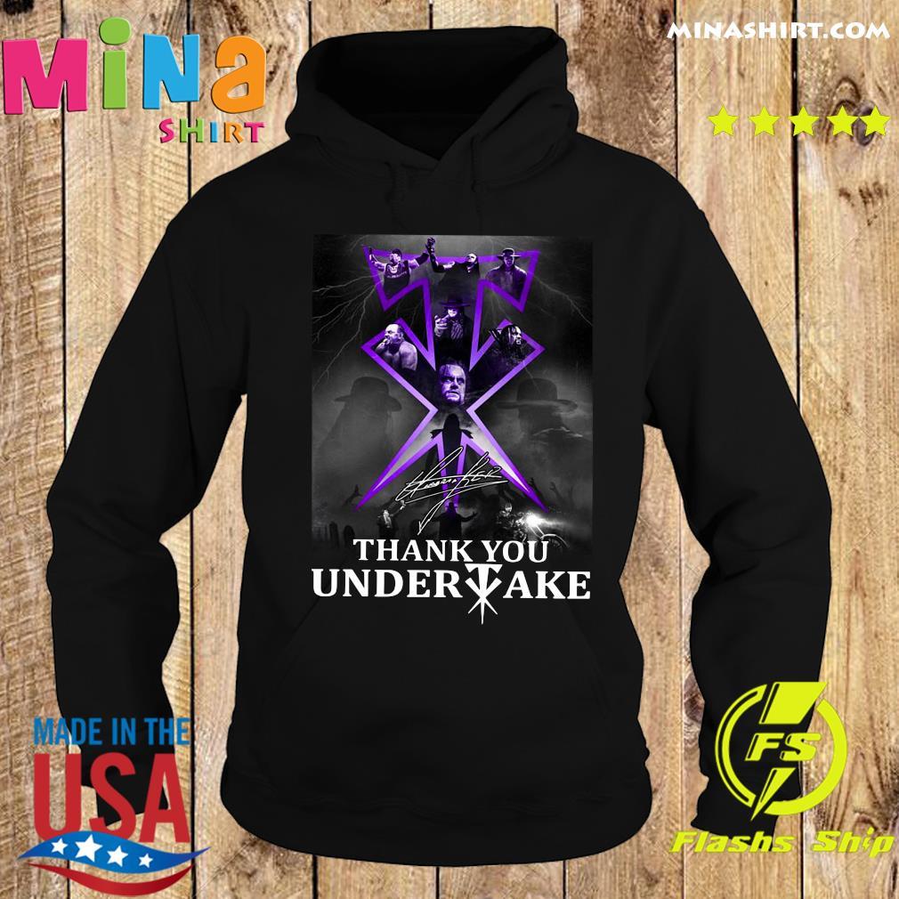 Thank You Undertaker Signature Shirt Hoodie
