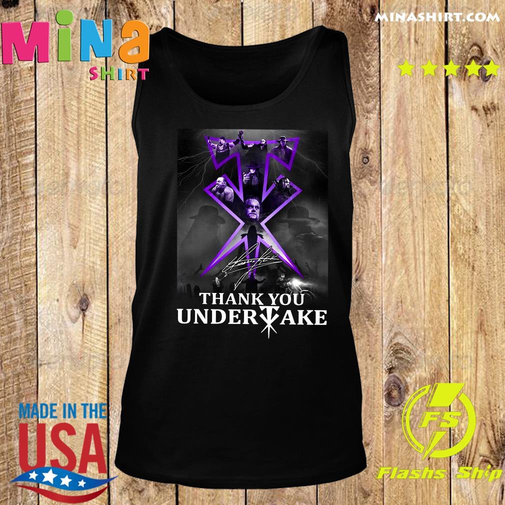 Thank You Undertaker Signature Shirt Tank top