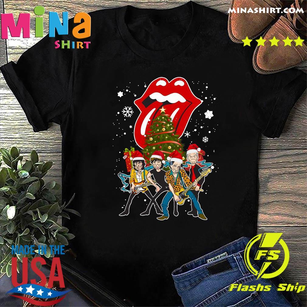The Rolling Stones Band Music Wear Pajama Santa Christmas Tree Gift Sweatshirt