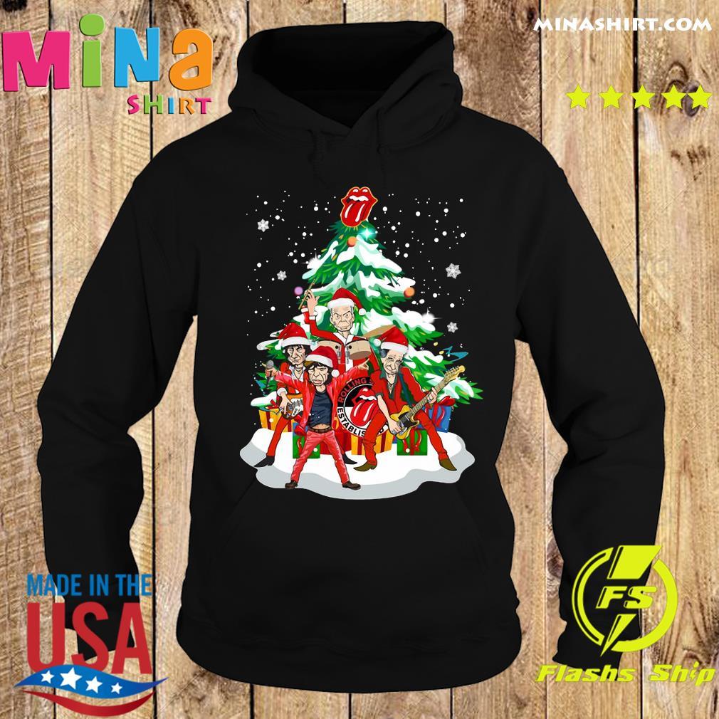The Rolling Stones Band Music Wear Pajama Santa Christmas Tree Merry Xmas Sweats Hoodie