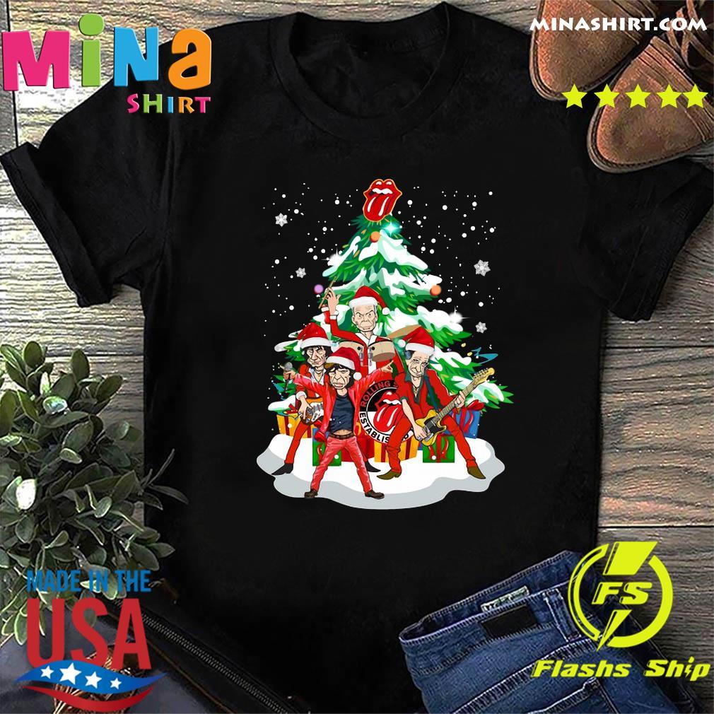 The Rolling Stones Band Music Wear Pajama Santa Christmas Tree Merry Xmas Sweatshirt