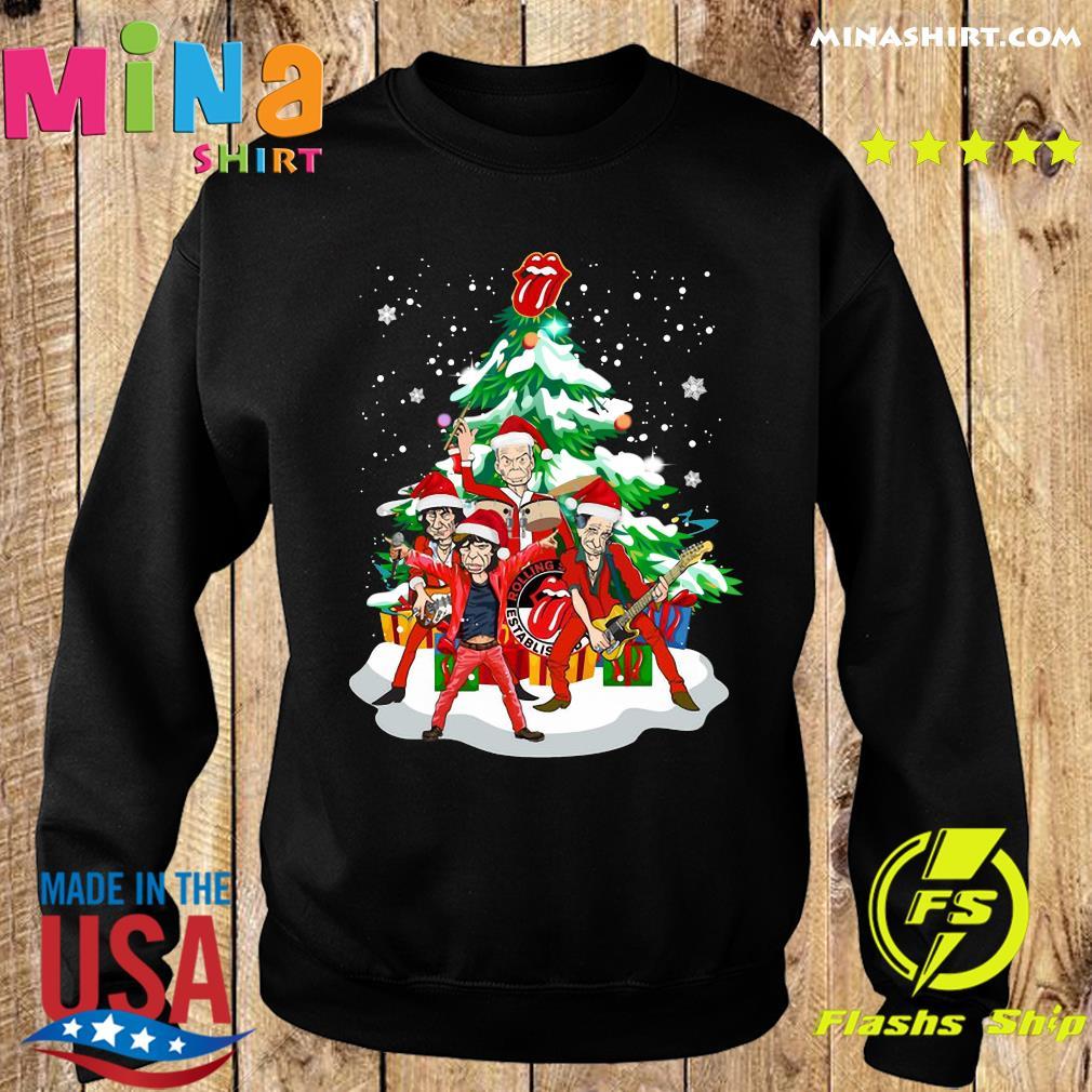The Rolling Stones Band Music Wear Pajama Santa Christmas Tree Merry Xmas Sweats Sweater
