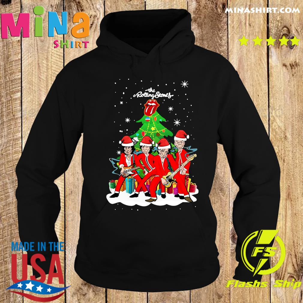 The Rolling Stones Band Music Wear Pajama Santa Christmas Tree Sweats Hoodie