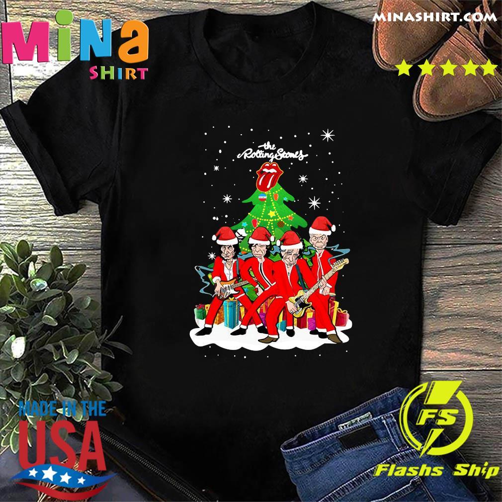 The Rolling Stones Band Music Wear Pajama Santa Christmas Tree Sweatshirt