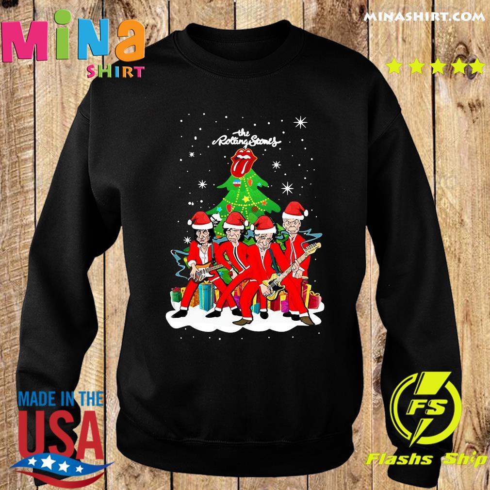 The Rolling Stones Band Music Wear Pajama Santa Christmas Tree Sweats Sweater
