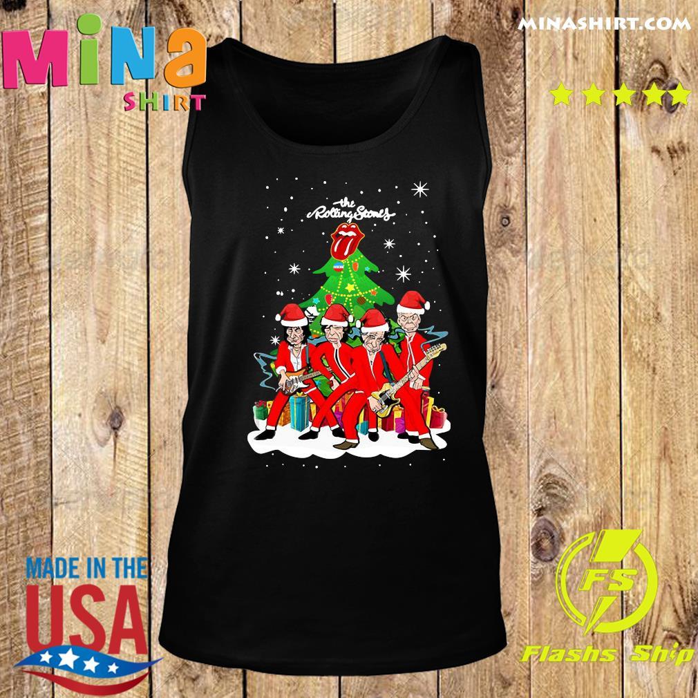 The Rolling Stones Band Music Wear Pajama Santa Christmas Tree Sweats Tank top