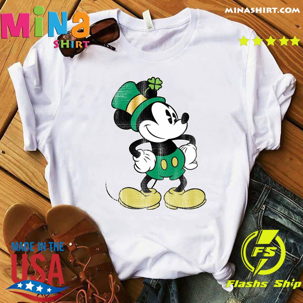 Mickey Mouse Green St. Patrick's Standing Lucky Shirt