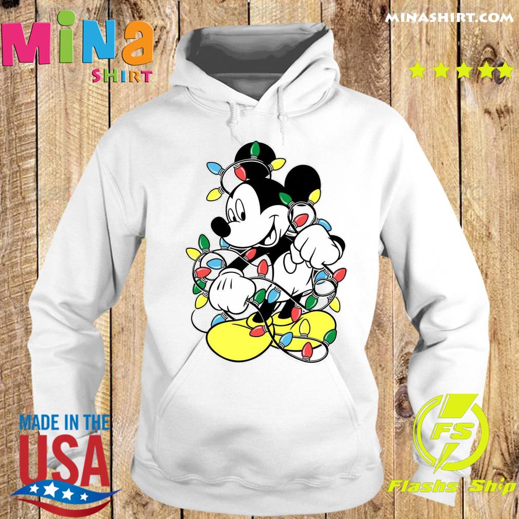 Mickey Mouse Merry Christmas Light Sweats Hoodie