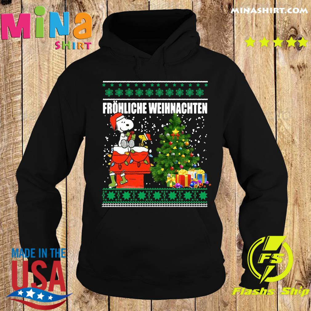 Snoopy And Woodstock Frohliche Weihnachten Ugly Merry Christmas Tree Sweats Hoodie