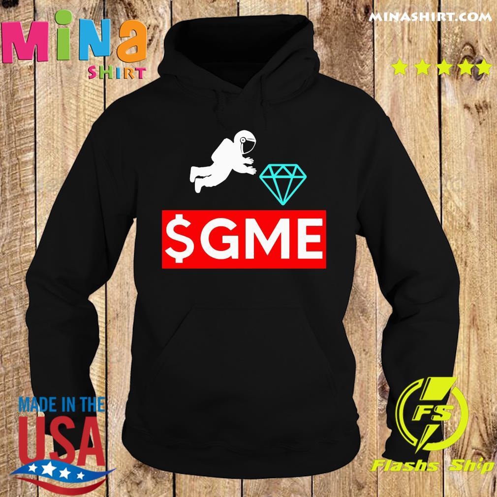 $gme Wallstreetbets Diamond Game To The Moon Shirt Hoodie